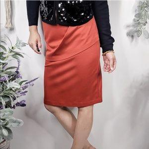 Cabi overlay pencil skirt Orange Sheath Style